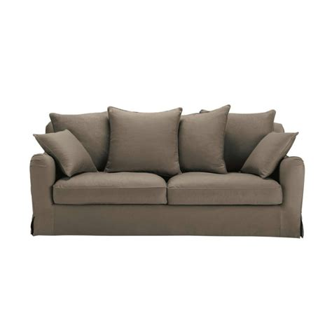 canap 233 3 places fixe taupe bovary maisons du monde