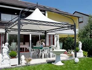 Dach Für Gartenpavillon : gartenpavillon metall mit festem dach ~ Markanthonyermac.com Haus und Dekorationen