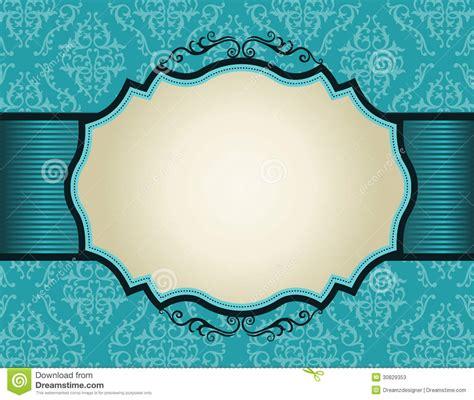 r 233 tro cadre d invitation sur le fond de mod 232 le de damass 233 photos stock image 30829353