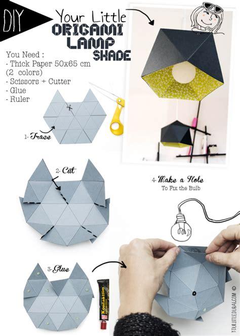 abat jour vide poche origami