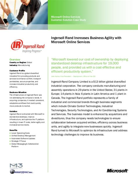 ingersoll rand mso study