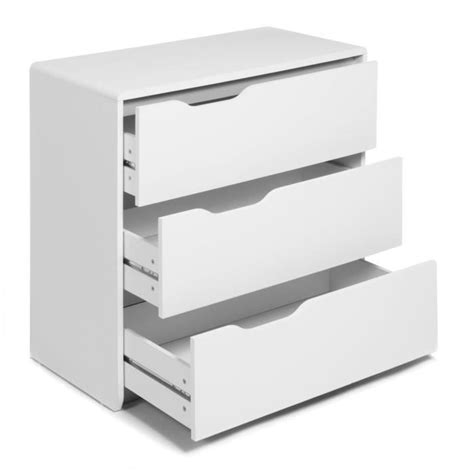 cool commode blanche 3 tiroirs achat vente commode pas cher couleur et design fr