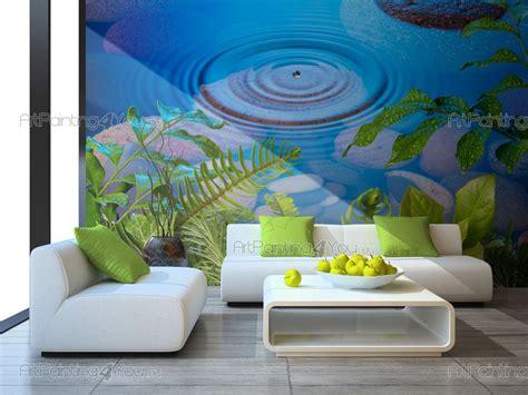 wall murals zen spa canvas prints posters fresh leaves 2250en