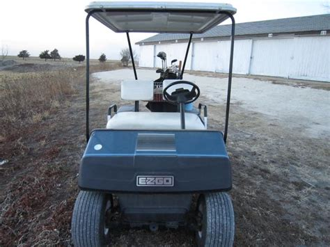 1988 Ez Go Gas Powered Golf Cart, Storage Shed Included