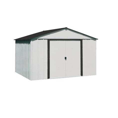 arrow galvanized steel storage shed common 10 ft x 8 ft
