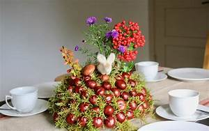Mit Moos Basteln : herbstdekoration basteln kastanien moos kugel hans natur blog ~ Whattoseeinmadrid.com Haus und Dekorationen