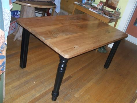 Local Elm Kitchen Table With Repurposed Tables Legs
