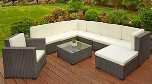 Rattanmöbel Garten Lounge : poly rattan sitzgruppe sitzgarnitur gartenm bel lounge sofa garten mit tisch braun lagento ~ Markanthonyermac.com Haus und Dekorationen