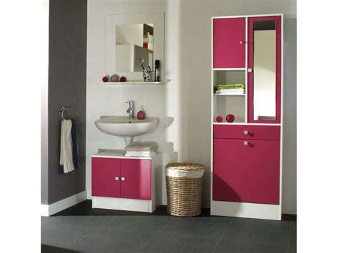 meuble sous lavabo miroir 232 re wave coloris fushia vente de meuble et rangement conforama