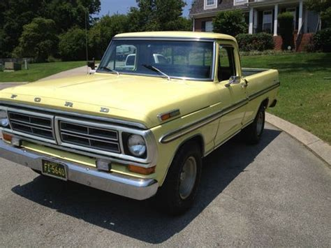 sell used 1972 ford f100 ranger xlt yellow in chattanooga tennessee united states for us