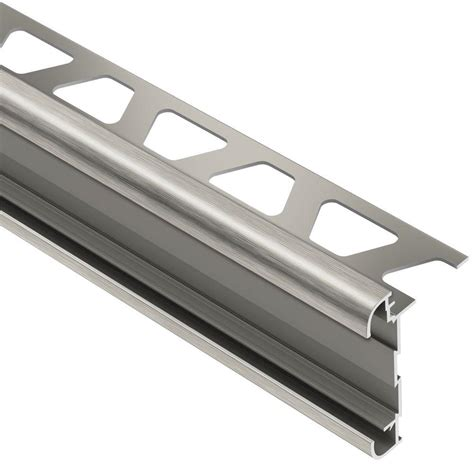 schluter rondec ct brushed nickel anodized aluminum 1 2 in
