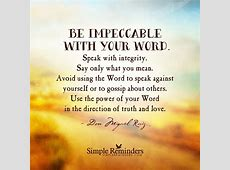 Be Impeccable with Your Word – Trinity Center for