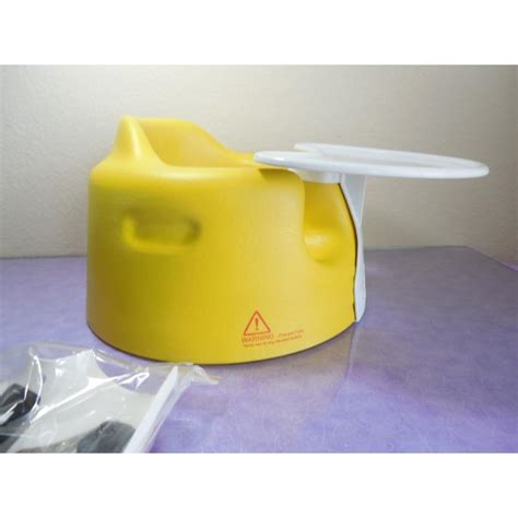 yellow bumbo baby seat chair soft foam with tray and recall kit ebay