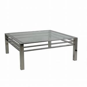 Tisch Glas Metall : couchtisch silber glas metall tisch verchromt metall und glas ma e 100x100 cm ~ Markanthonyermac.com Haus und Dekorationen