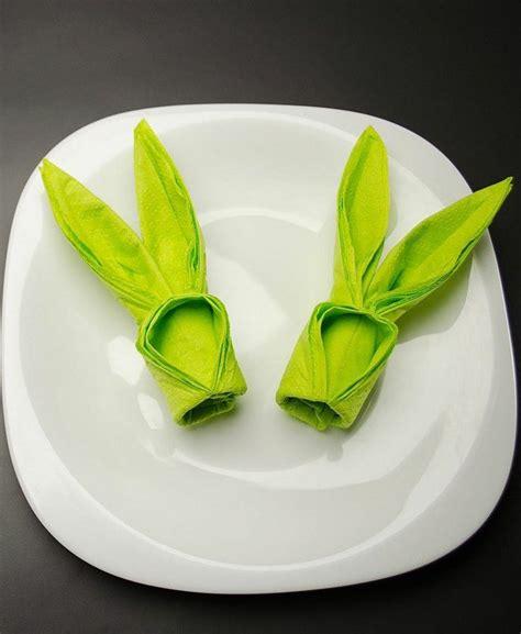 17 best ideas about pliage serviette lapin on pliage serviette paques fabrication