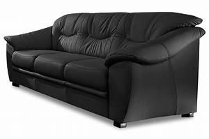 Clubsessel Leder Schwarz : leder 3er sofa savona mit schlaffunktion schwarz mit federkern sofas zum halben preis ~ Markanthonyermac.com Haus und Dekorationen