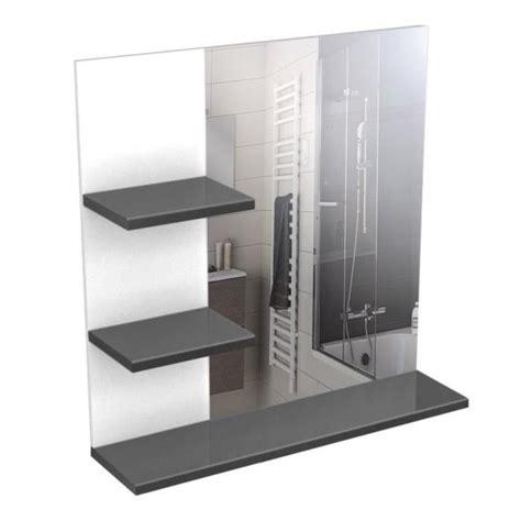 corail meuble miroir de salle de bain l 60 cm gris laqu 233 achat vente miroir salle de bain