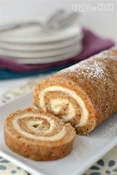 carrot cake roll for crust