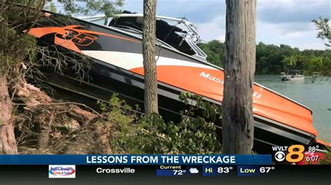 Boating Accident Douglas Lake by Crews Recover Wreckage That Injured Four In Douglas Lake