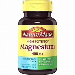 Nature Made High Potency Magnesium 400 Mg Liquid Softgels ...