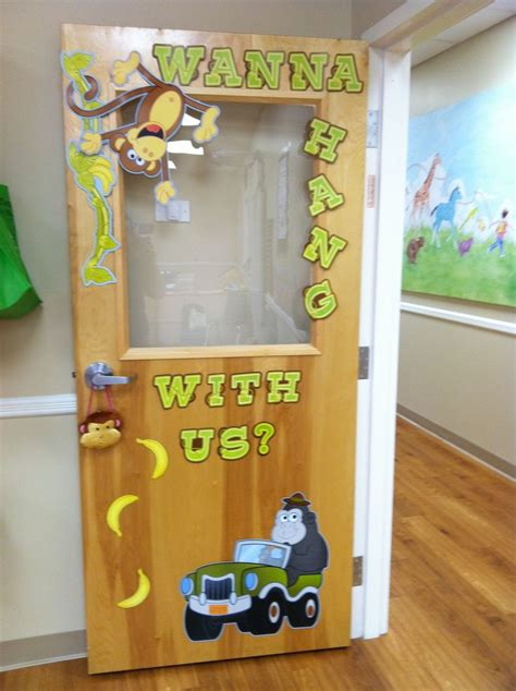 preschool jungle classroom door decorations bulletin board wall ideas classroom