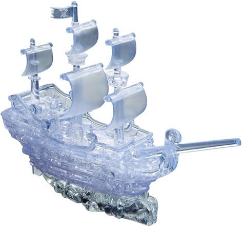 Schip Puzzel by 3d Deluxe Crystal Puzzle Pirate Ship Clear