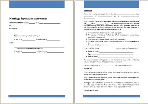 52 Separation Agreement Template Ontario, 7 Separation