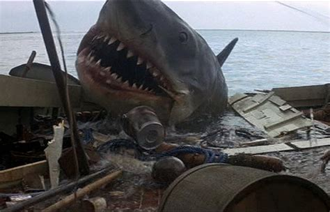 Jaws Fishing Boat Scene by Daily Grindhouse Shark Week Trailer Trash Bruce And