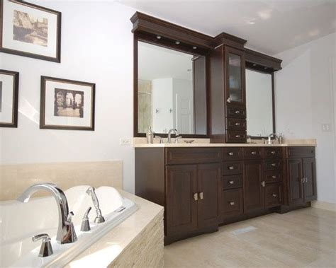 vanity with center tower bathroom master bath