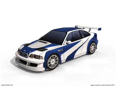 Bmw M3 Gtr Car Paper Model