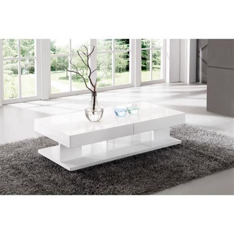 table de salon rectangulaire avec rangement blanc laqu 233 achat vente table basse table de