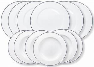 Geschirr Blau Weiß : kahla tafelservice 12 teilig porzellan aronda blaue linie online kaufen otto ~ Markanthonyermac.com Haus und Dekorationen