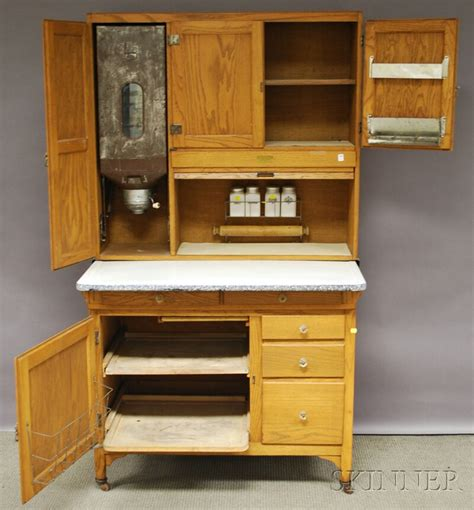 sellers oak tambour hoosier cabinet sale number 2630m lot number 543 skinner auctioneers