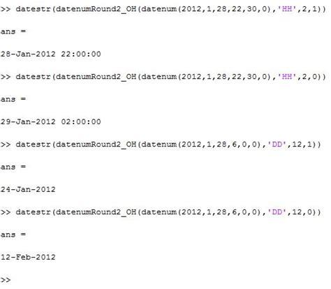 ceil and floor matlab datenumbers file exchange