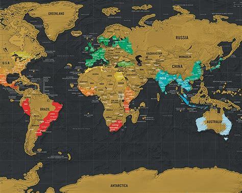 luckies scratch map la carte du monde 224 gratter edition deluxe et de voyage
