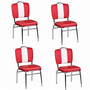 Diner Stühle Günstig : finebuy 4er set esszimmerst hle king american diner 50er jahre retro st hle sitzfl che mit ~ Markanthonyermac.com Haus und Dekorationen