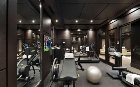 Gym Interior : Inspiring Modern Chalet Interior Design From French Alps