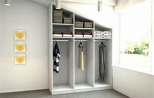 Kleine Küche Mit Schräge : ikea ankleidezimmer mit dachschr ge ~ Markanthonyermac.com Haus und Dekorationen