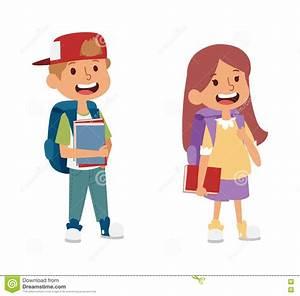 School Kid Primary Education Character Vector. Stock ...