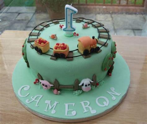 one year birthday cake cool railroad and farm birthday cake for 1 year jpg hi