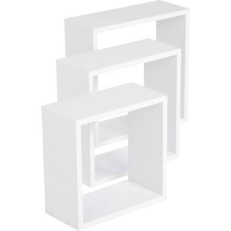 etag 232 re 3 cubes blanc 3 dimensions 30 x 30 27 x 27 24 x 24 cm ep 12 mm leroy merlin