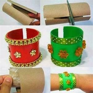 Deko Aus Toilettenpapierrollen : basteln mit klopapierrollen diy ideen deko ideen basteln mit kindern armband basteln ~ Markanthonyermac.com Haus und Dekorationen
