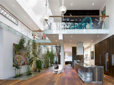 modern custom home with central atrium and interior bamboo garden idesignarch interior
