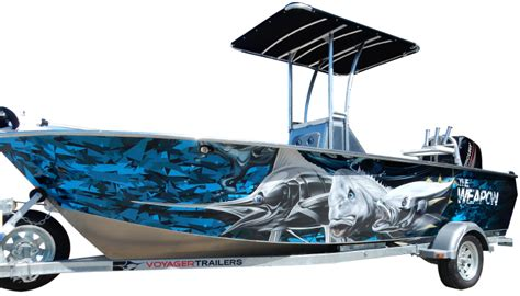 Custom Fishing Boat Graphics by Boat Wraps Marine Graphics Ink
