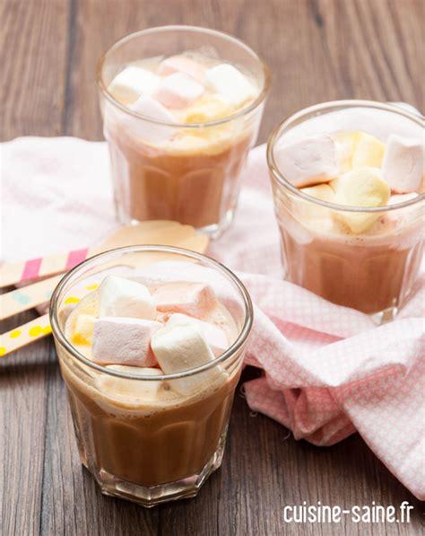 chocolat chaud maison au lait de cajou cuisine saine sans gluten sans lait