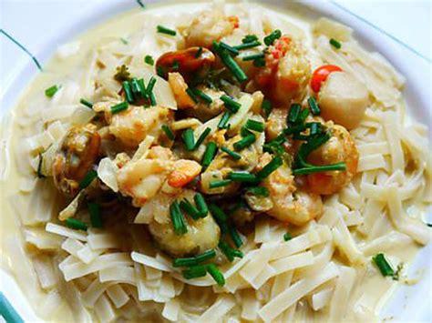 recette de nouilles aux fruits de mer par fanfan