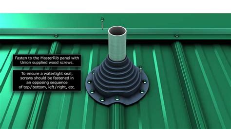 Rubber Boot Roof Jack by How To Install A Metal Roof Pipe Boot Youtube