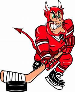 SignSpecialist.com – Mascots Decals - Devil hockey player ...