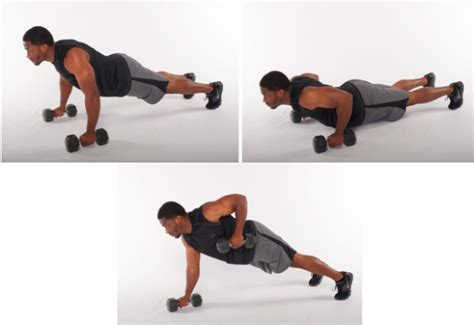 exercise of the week dumbbell push up to row stack