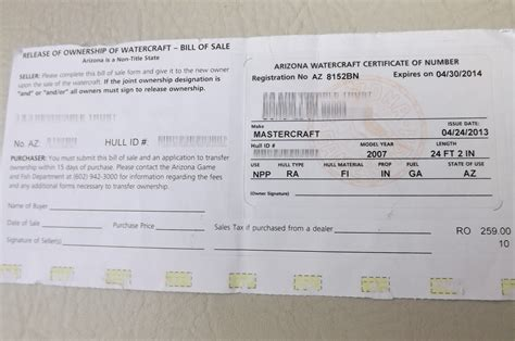 Texas Boat Registration Without Title how do i sell my boat